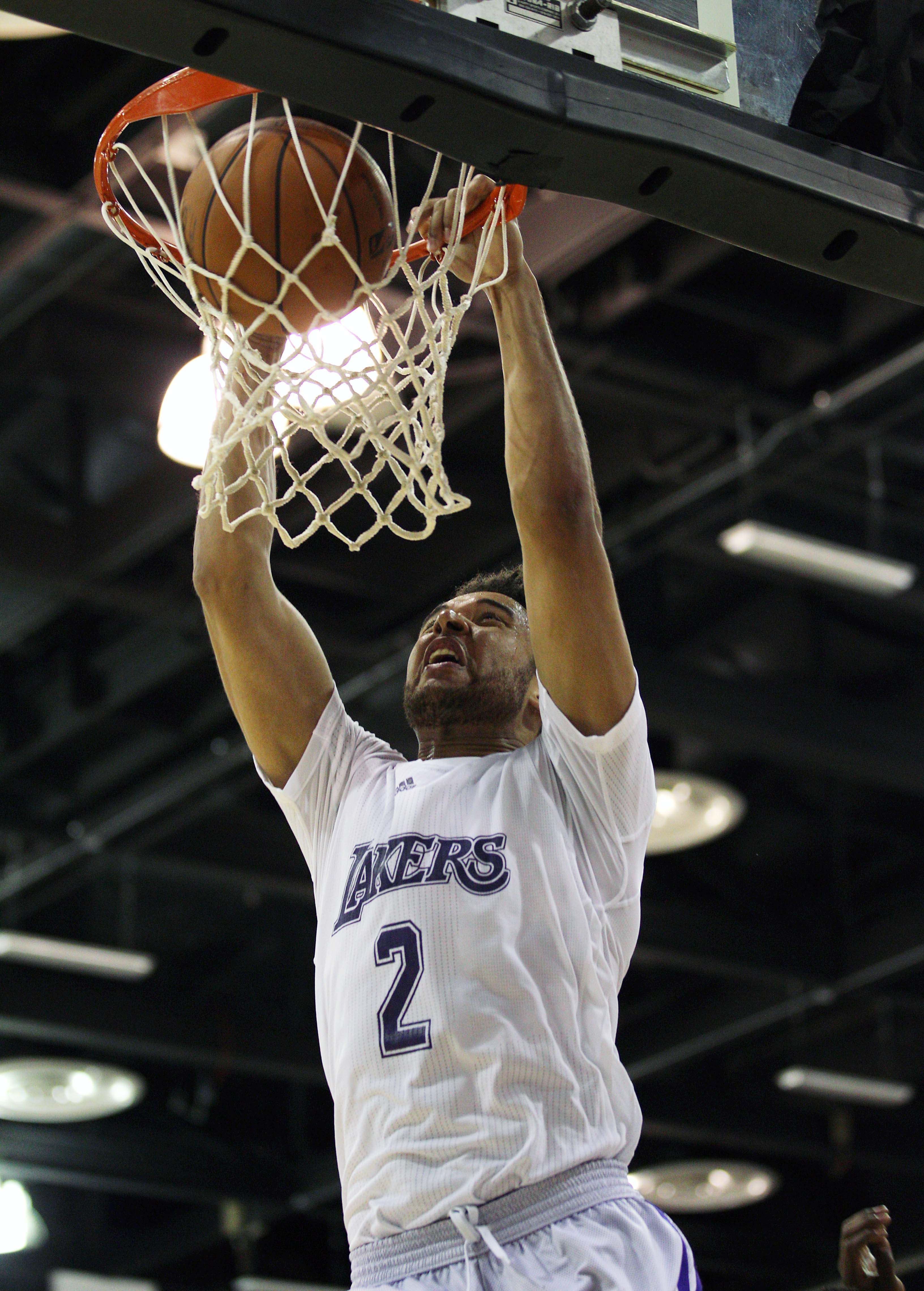 Elias Harris dunks at summer league. (USA Today)