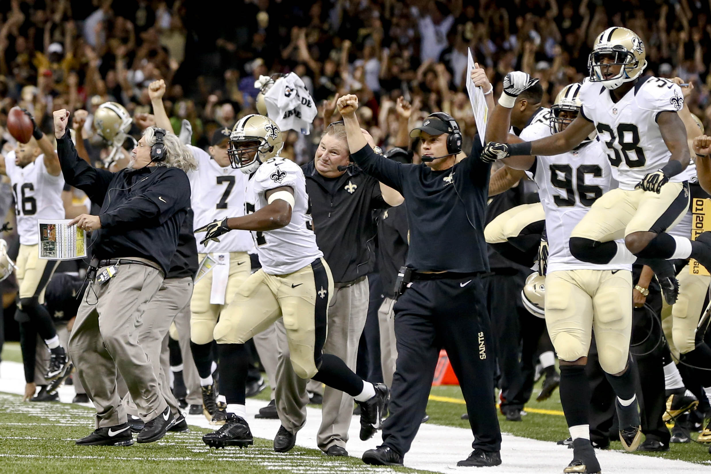 The Saints were happy to start the season 1-0 after beating the rival Falcons. (USA TODAY Sports)