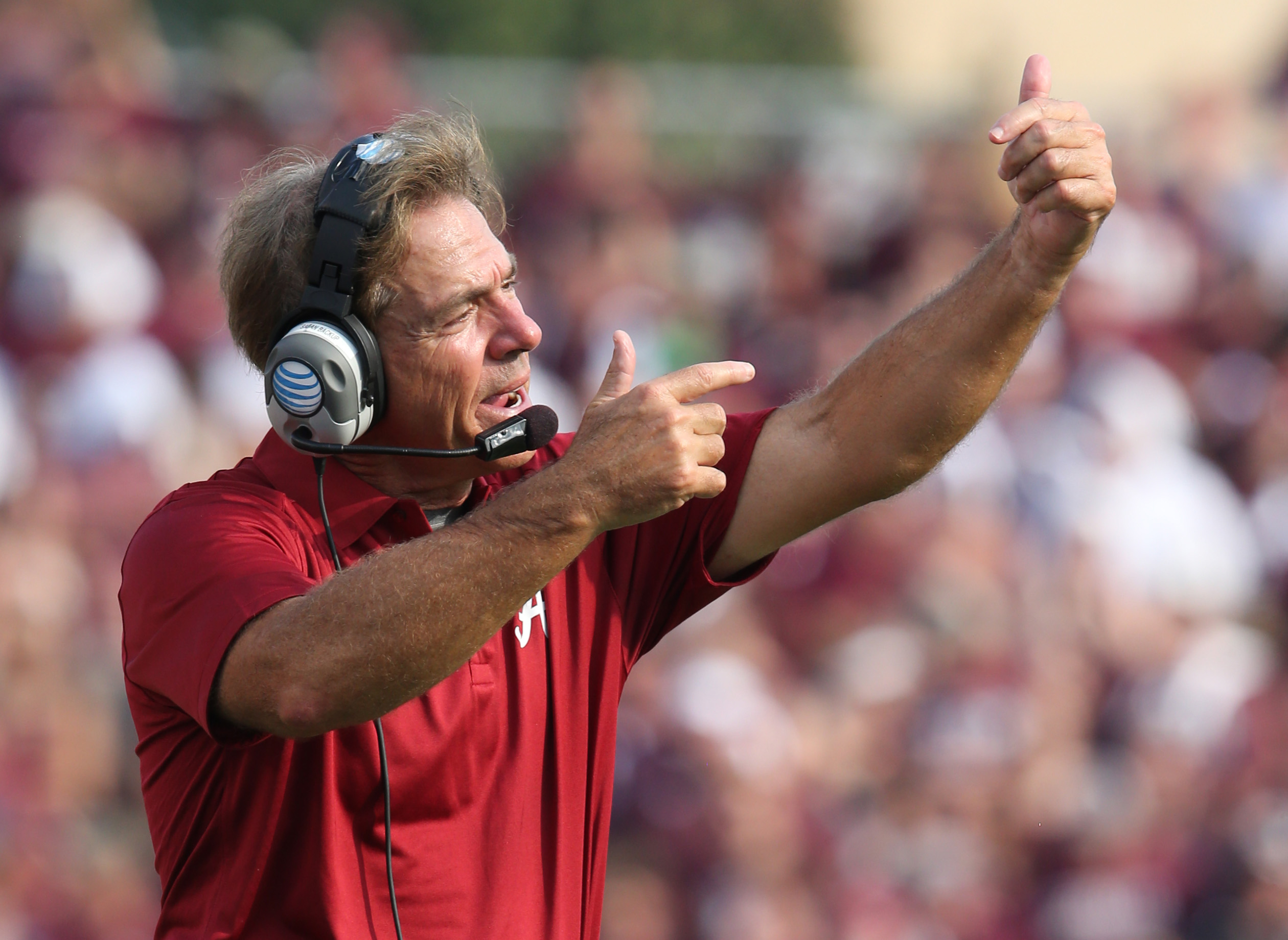Alabama is paying Nick Saban $5.6 million this season. (USA Today)