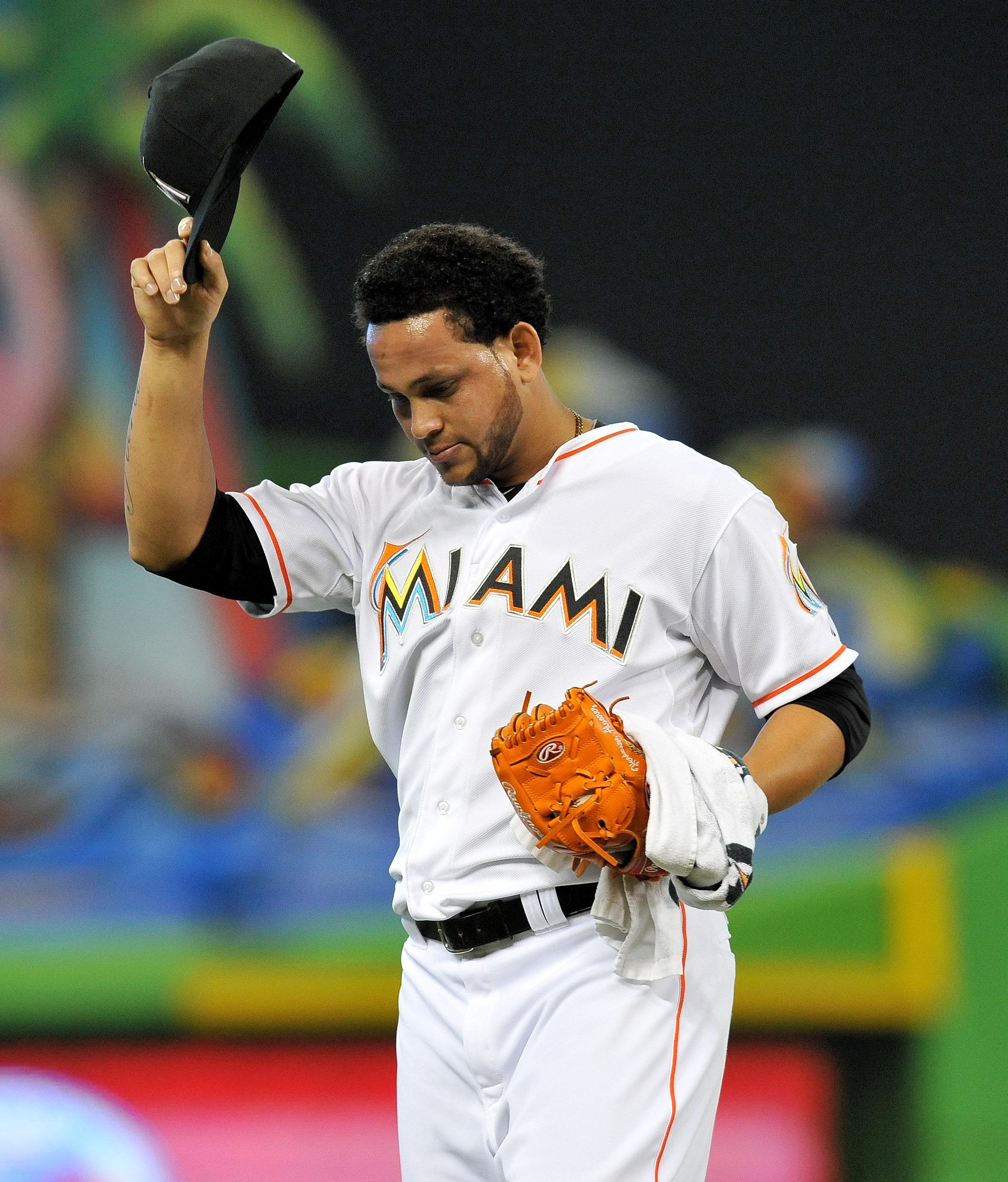 Henderson Alvarez tips his cap during his win over the Tigers. (USA Today)