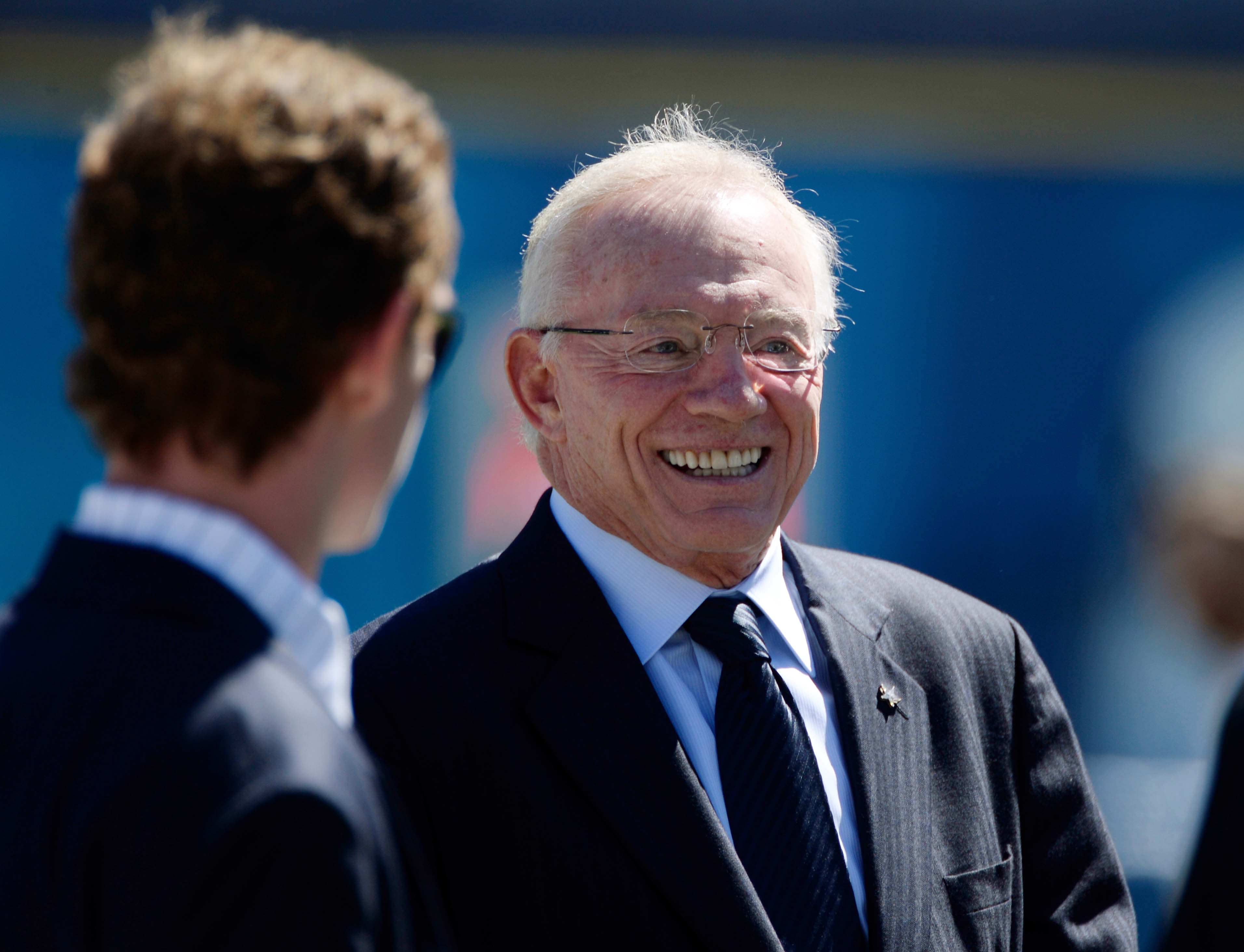 Jerry Jones is all smiles on the sidelines before the Cowboys' game vs. San Diego in September. (USA TODAY Sports)