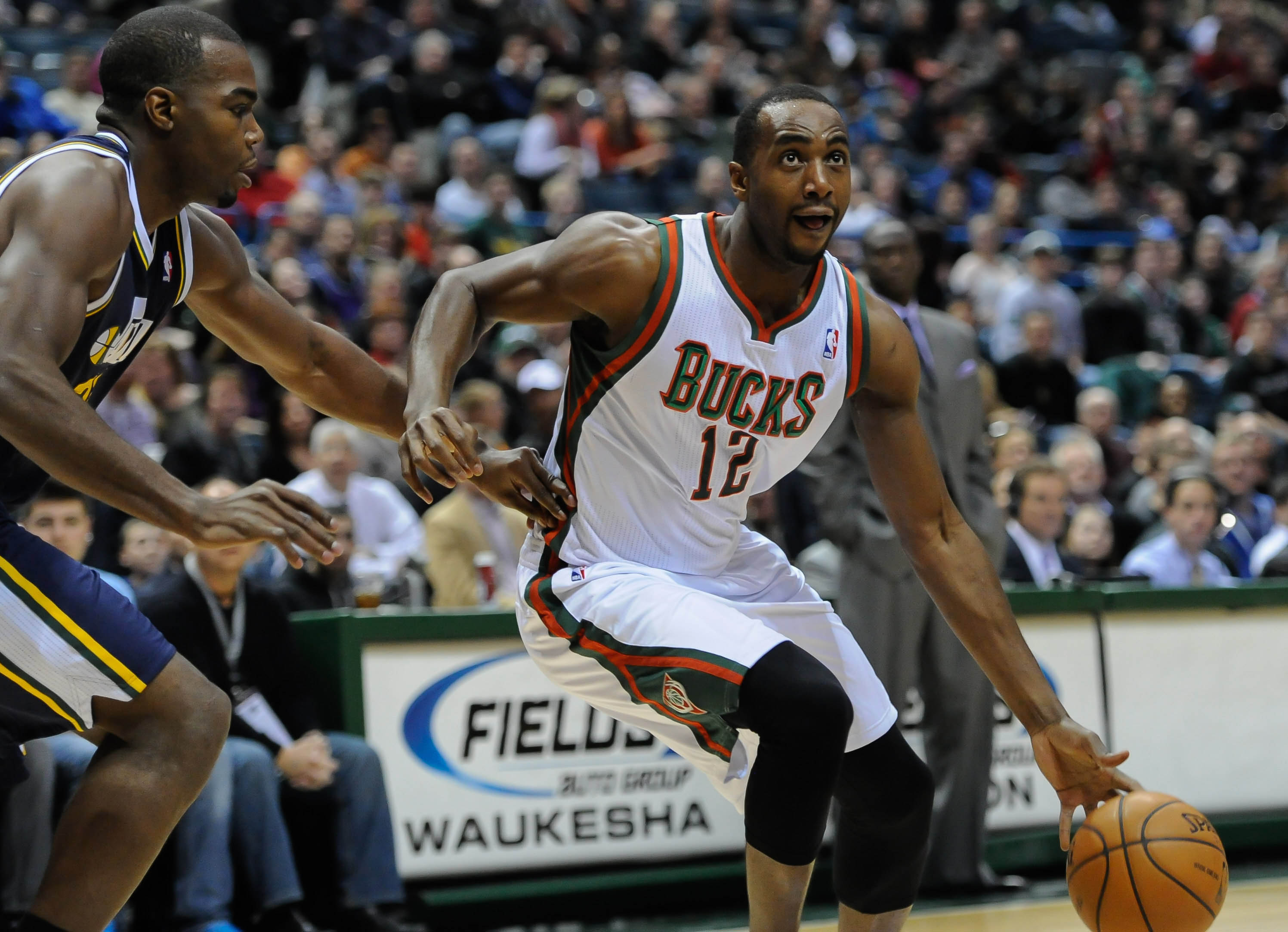 Luc Richard Mbah a Moute averaged 6.7 points for the Bucks last season. (USA Today Sports)