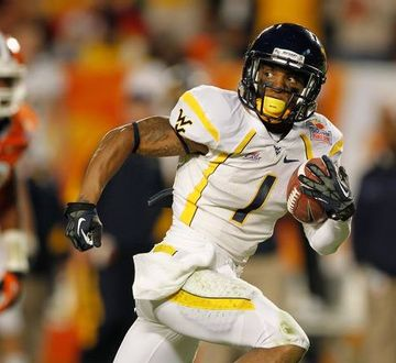 Wide receiver Tavon Austin doubles as an elite return man for West Virginia. (AP)