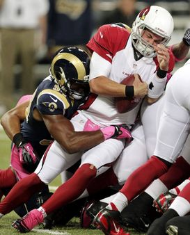 TNF: Rams' defense pours it on Kolb, Cards