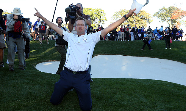 Ian Poulter has a career 12-3 record in the Ryder Cup and was a catalyst to Europe's win Sunday.