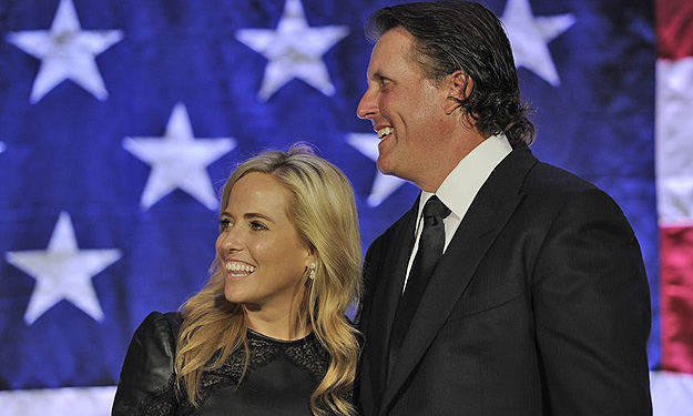 Birdies for the Brave founder Phil Mickelson (with wife Amy) have raised millions for wounded veterans.
