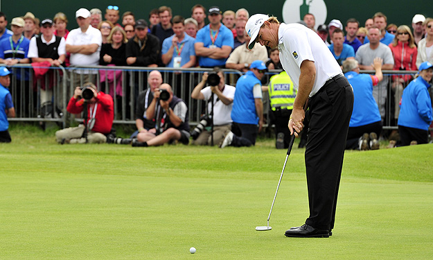 Ernie Els nailed a 15-footer for birdie on the 72nd hole at Royal Lytham.