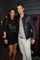 Paula Patton and Robin Thicke attends a private dinner hosted by CHANEL for Karl Lagerfeld at 82 Mercer in New York City on September 9, 2010 -- Getty Images