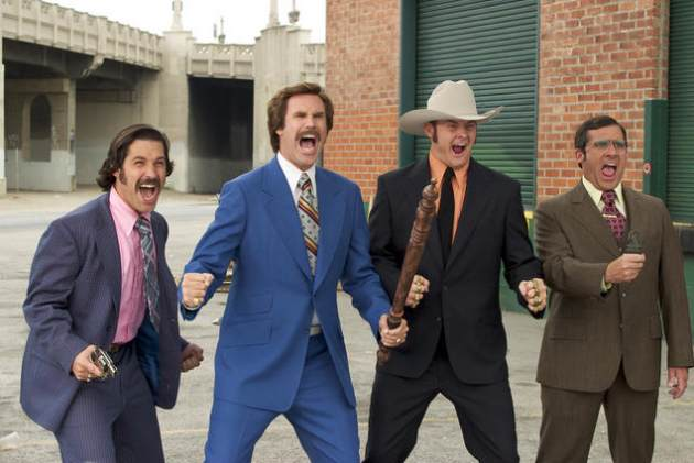Will Ferrell and Steve Carell in &quot;Anchorman: The Legend of Ron Burgandy&quot;