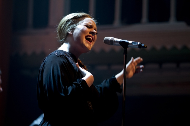 Adele performs on stage at Paradiso in Amsterdam on April 8, 2011 -- Getty Premium