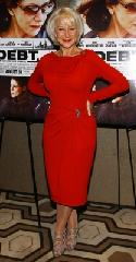 Helen Mirren glams it up in red at &quot;The Debt&quot; screening in New York City on August 22, 2011