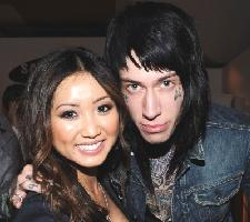 Brenda Song and Trace Cyrus are seen at the launch party for the new T-Mobile Sidekick 4G at a Private Lot in Beverly Hills, Calif. on April 20, 2011  -- Getty Images
