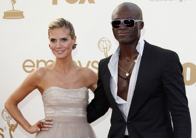 Heidi Klum and Seal arrive at the 63rd Primetime Emmy Awards held at Nokia Theatre L.A. Live in Los Angeles on September 18, 2011  -- Getty Premium