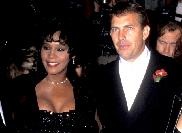 Whitney Houston and Kevin Costner attend 'The Bodyguard' Hollywood premiere in Los Angeles on November 23, 1992 -- Getty Premium
