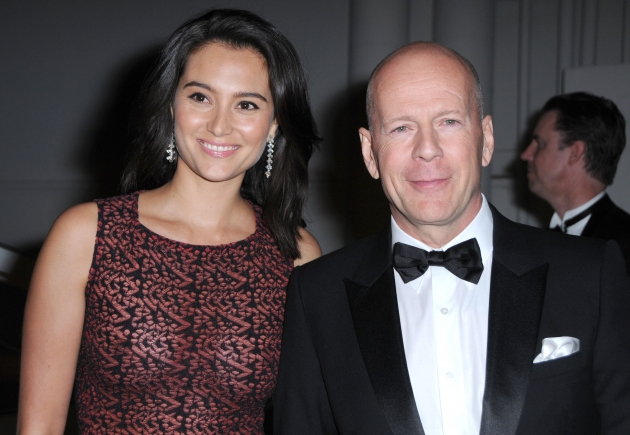 Emma Heming and Bruce Willis arrives at The Weinstein Company and Realativity Media&#39;s 2011 Golden Globes after party held at Bar 210 inside The Beverly Hilton hotel in Beverly Hills, Calif. on January 16, 2011 -- FilmMagic