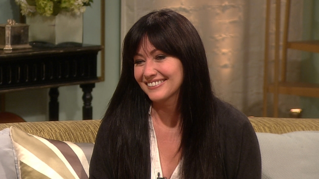 Shannen Doherty stops by Access Hollywood Live on April 10, 2012 -- Access Hollywood