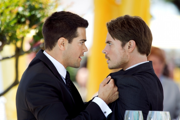 Jesse Metcalfe and Josh Henderson in 'Dallas' -- TNT