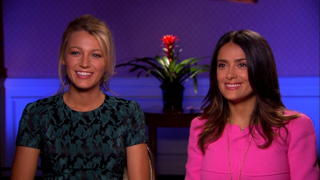 Blake Lively and Salma Hayek talk &#39;Savages&#39; with Access Hollywood, June 15, 2012 -- Access Hollywood