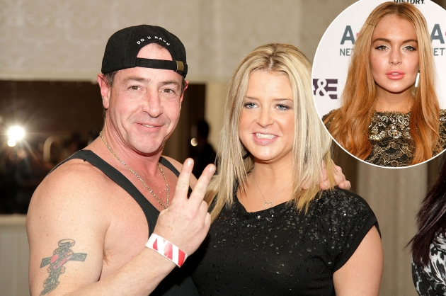 Michael Lohan and Kate Major attend Celebrity Boxing 16 in Essington, Pennsylvania on January 15, 2010 / inset: Lindsay Lohan  -- Getty Premium
