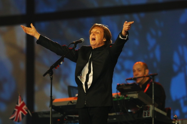 Sir Paul McCartney performs during the Opening Ceremony of the London 2012 Olympic Games at the Olympic Stadium on July 27, 2012 -- Getty Images