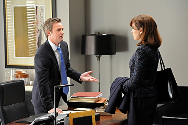 Matthew Perry with Julianna Margulies on &#39;The Good Wife&#39; -- CBS