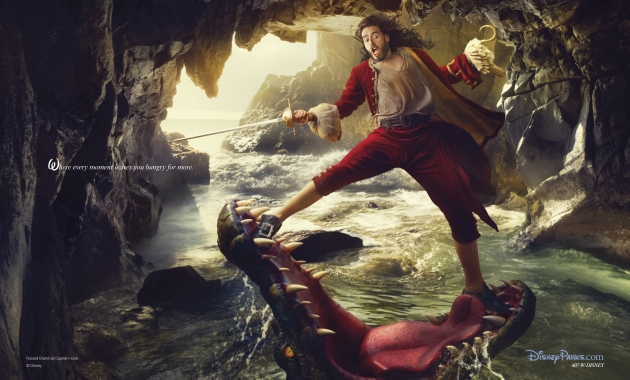 Russell Brand as Captain Hook in a portrait by Annie Leibovitz for Disney Parks -- Annie Leibovitz/Disney Parks