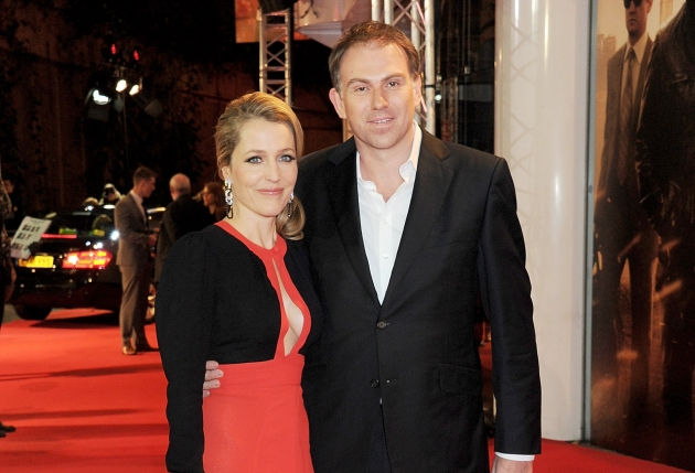 Gillian Anderson and Mark Griffiths attend the UK Premiere of &#39;Mission: Impossible Ghost Protocol&#39; at BFI IMAX in London on December 13, 2011 -- Getty Premium