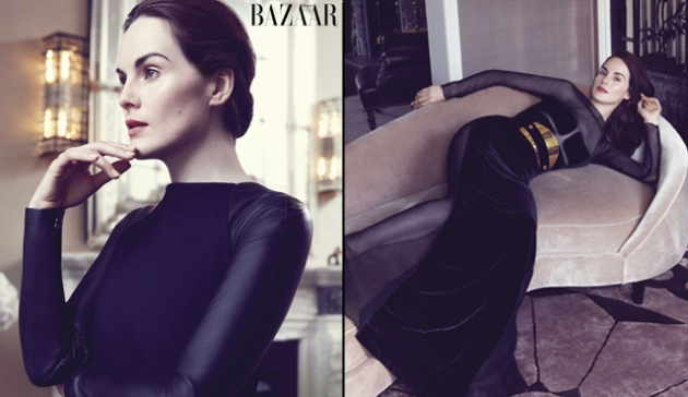 Michelle Dockery in Harper&#39;s Bazaar, September 2012 issue -- Harper&#39;s Bazaar