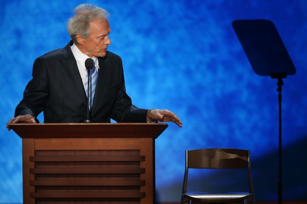 Clint Eastwood speaks during the RNC in Tampa, Fla., on August 30, 2012 -- Getty Images
