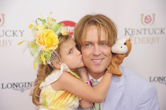 Dannielynn Birkhead and her father, Larry Birkhead, attend the 138th Kentucky Derby at Churchill Downs, Louisville, KY, on May 5, 2012 -- Getty Images