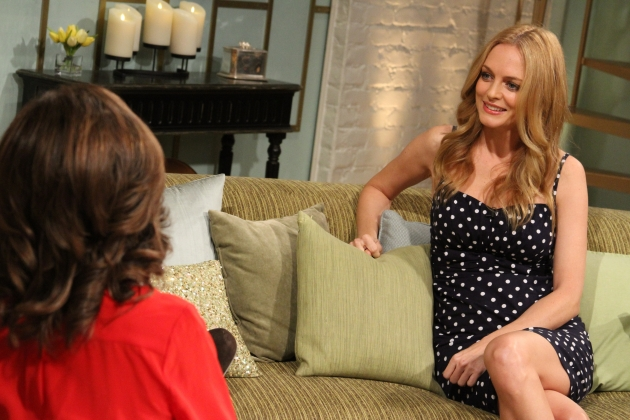 The lovely Heather Graham visits Access Hollywood Live on September 12, 2012 -- Access Hollywood