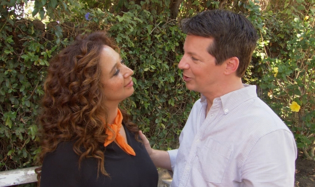 Maya Rudolph and Sean Hayes share a moment on the set of 'Up All Night,' September 13, 2012 -- Access Hollywood