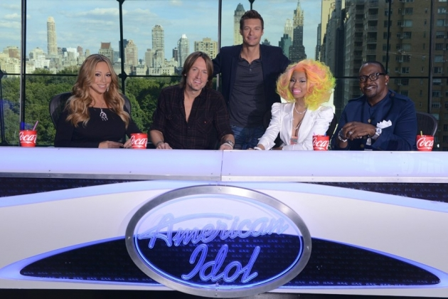 Mariah Carey, Keith Urban, Ryan Seacrest, Nicki Minaj and Randy Jackson on &#39;American Idol&#39; -- FOX
