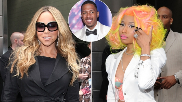 Mariah Carey / Nicki Minaj / Nick Cannon -- Getty Images
