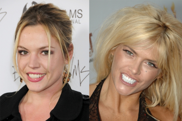 Agnes Bruckner, Anna Nicole Smith -- Getty Images