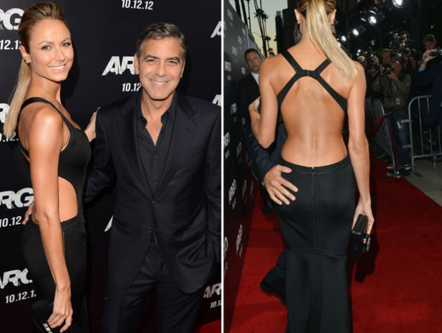 Stacy Keibler and George Clooney step out at the &#39;Argo&#39; Los Angeles Premiere in Beverly Hills, Calif. on October 4, 2012 -- Getty Images