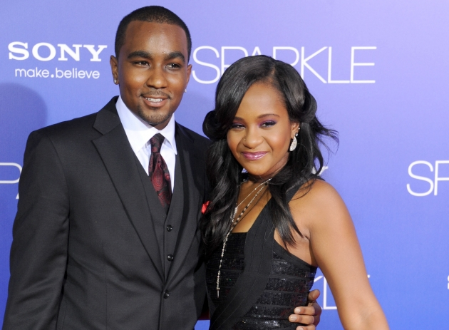 Bobbi Kristina Brown and Nick Gordon arrive at the Los Angeles premiere of &#39;Sparkle&#39; at Grauman&#39;s Chinese Theatre on August 16, 2012 in Hollywood -- Getty Premium