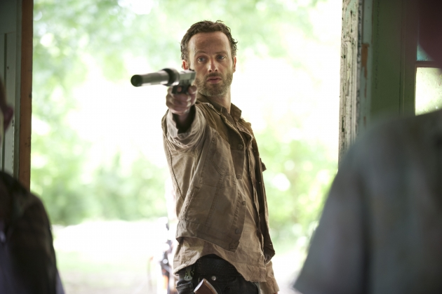 Andrew Lincoln as Rick Grimes in Season 3 of &#39;The Walking Dead&#39; -- Gene Page/AMC