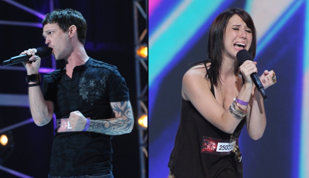 Jeffrey Gutt, Jillian Jensen from &#39;The X Factor,&#39; Season 2 -- FOX