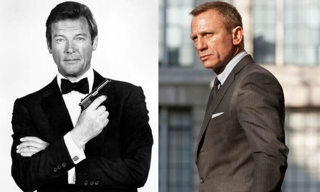 Sir Roger Moore, Daniel Craig -- Getty Images