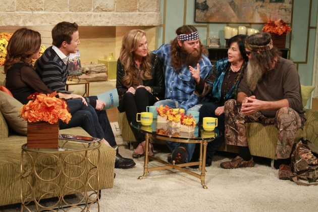 Willie, Korie, Phil and Miss Kay Robertson of &#39;Duck Dynasty&#39; visit Access Hollywood on November 19, 2012  -- NBC