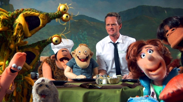 Neil Patrick Harris serves the Henson Alternative puppets in a scene from 'Neil's Puppet Dreams' on Nerdist Channel on YouTube -- Nerdist