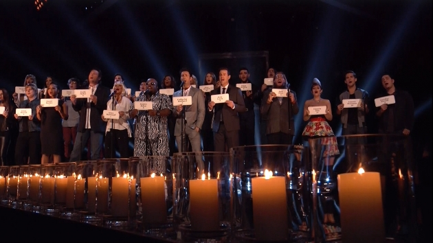 'The Voice' choir, Dec. 17, 2012 -- NBC