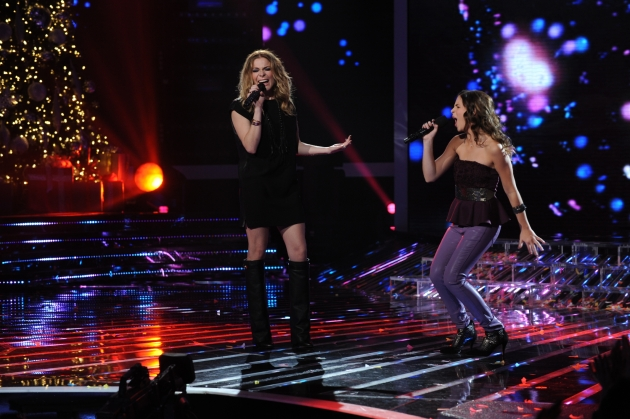 LeAnn Rimes and Carly Rose Sonenclar perform on &#39;The X Factor,&#39; dec. 19, 2012 -- FOX