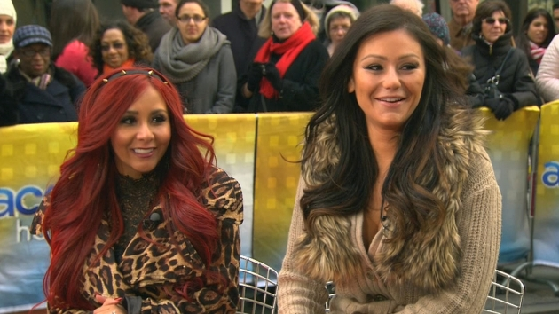 Nicole &#39;Snooki&#39; Polizzi and Jenni &#39;JWoww&#39; Farley stop by Access Hollywood Live on January 4, 2013 -- Access Hollywood