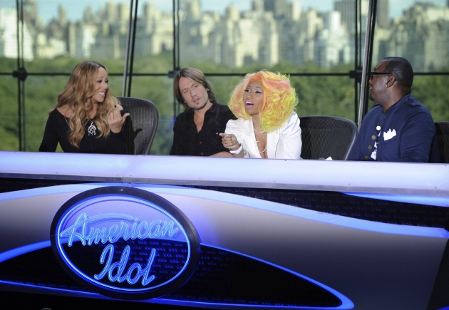 Mariah Carey, Keith Urban, Nicki Minaj and Randy Jackson at the New York auditions of &#39;American Idol,&#39; Season 12 -- FOX