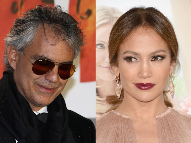 Andrea Bocelli, Jennifer Lopez --