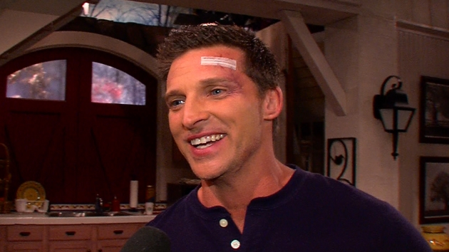 Steve Burton on the set of &#39;The Young and The Restless&#39;