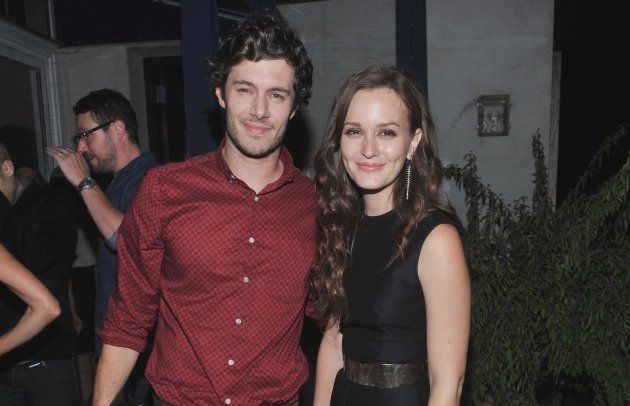 Adam Brody and Leighton Meester attend the after party for The Cinema Society screening of 'The Oranges' on September 14, 2012 in New York City  -- Getty Premium
