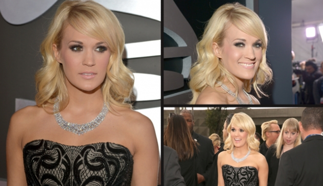 Carrie Underwood attends the 55th Annual Grammy Awards at Staples Center, Los Angeles, on February 10, 2013 -- Getty Images